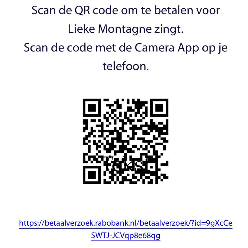QR-code om donatie over te maken